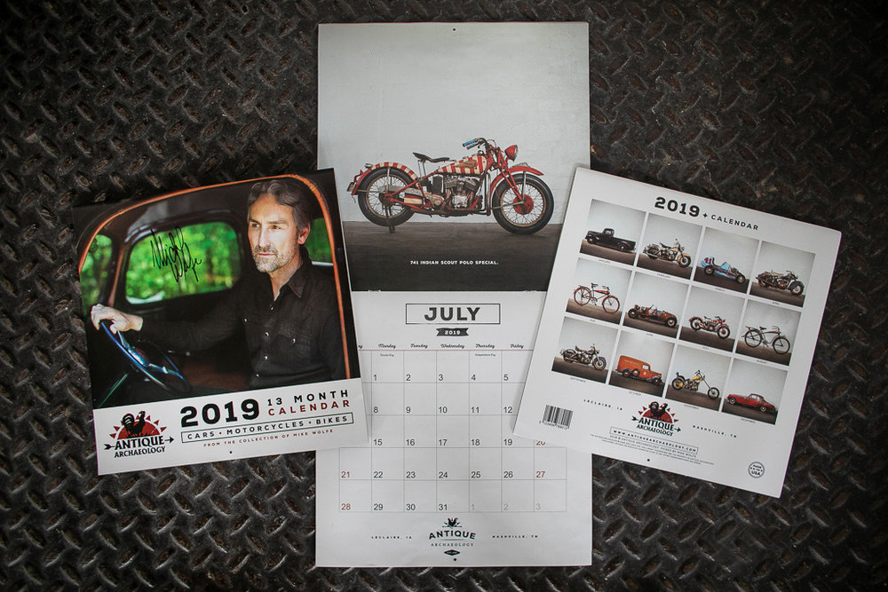 Full calendar design and photography for Mike Wolfe and Antique Archaeology.