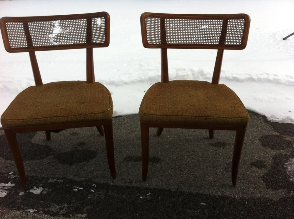 The Dunbar chairs the day I picked them up.