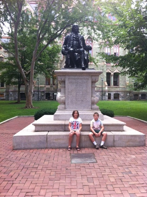 Here with William Penn on UPENN campus.