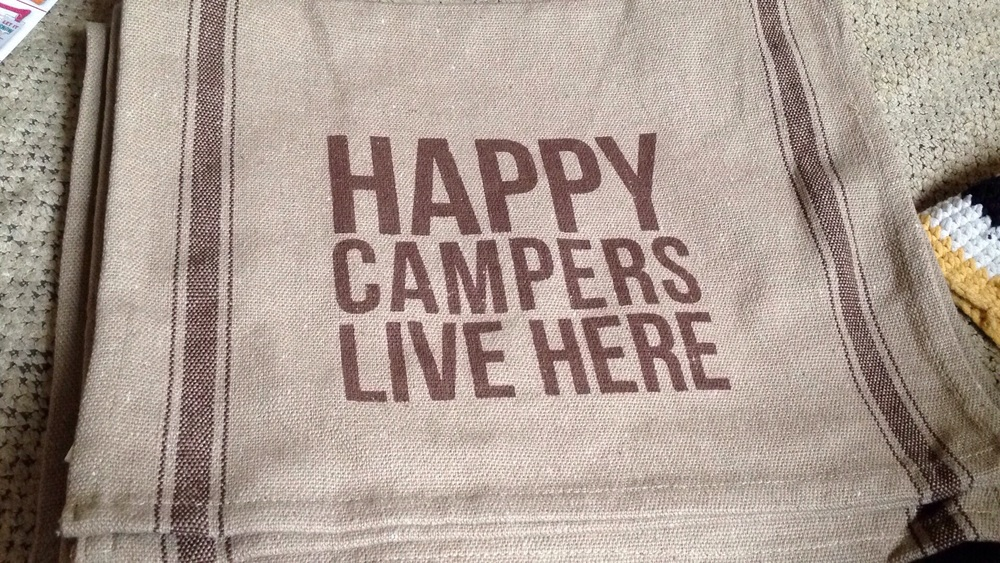 Cotton kitchen towel.  Perfect for a vintage camper!