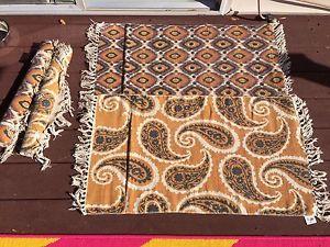 Cotton fringed door mats