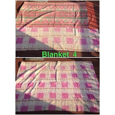 Indian kantha quilt approx twin size