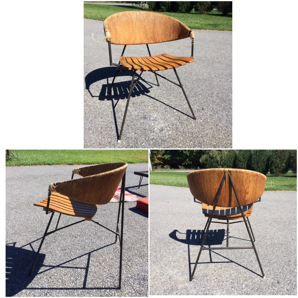 This Arthur Umanoff chair looks as good from the back as it does from the front!