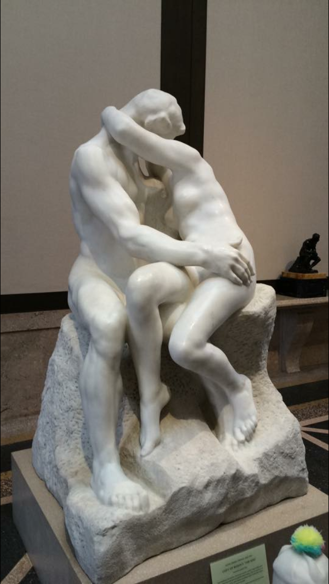 Rodin 'the kiss' at the Rodin Museum