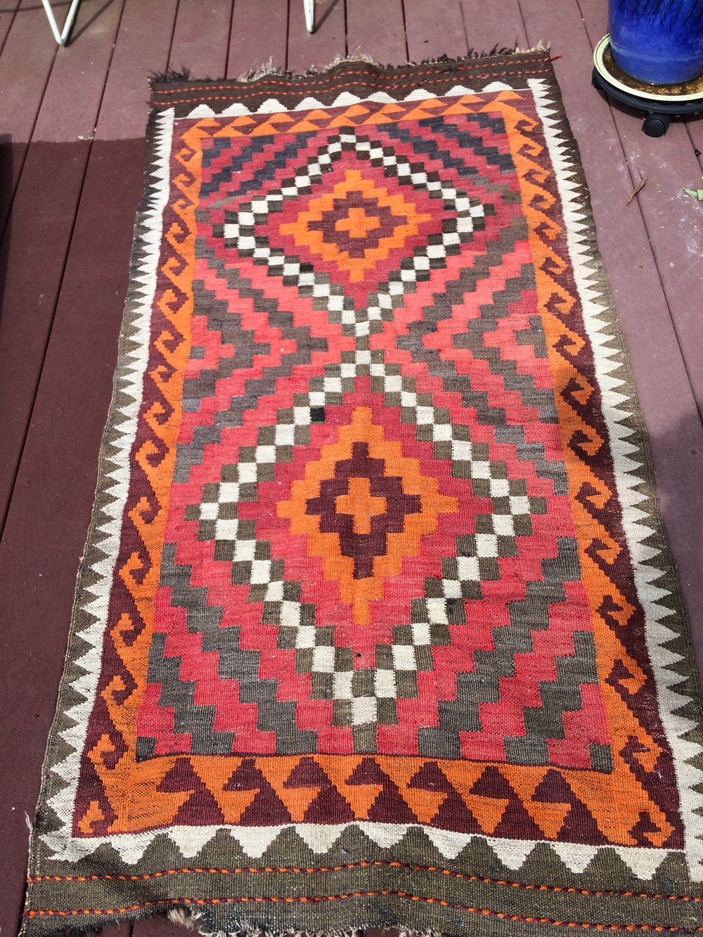 Beautiful Turkish Flat Weave Kilim https://www.etsy.com/listing/527579136/on-sale-turkish-wool-flat-weave-kilim