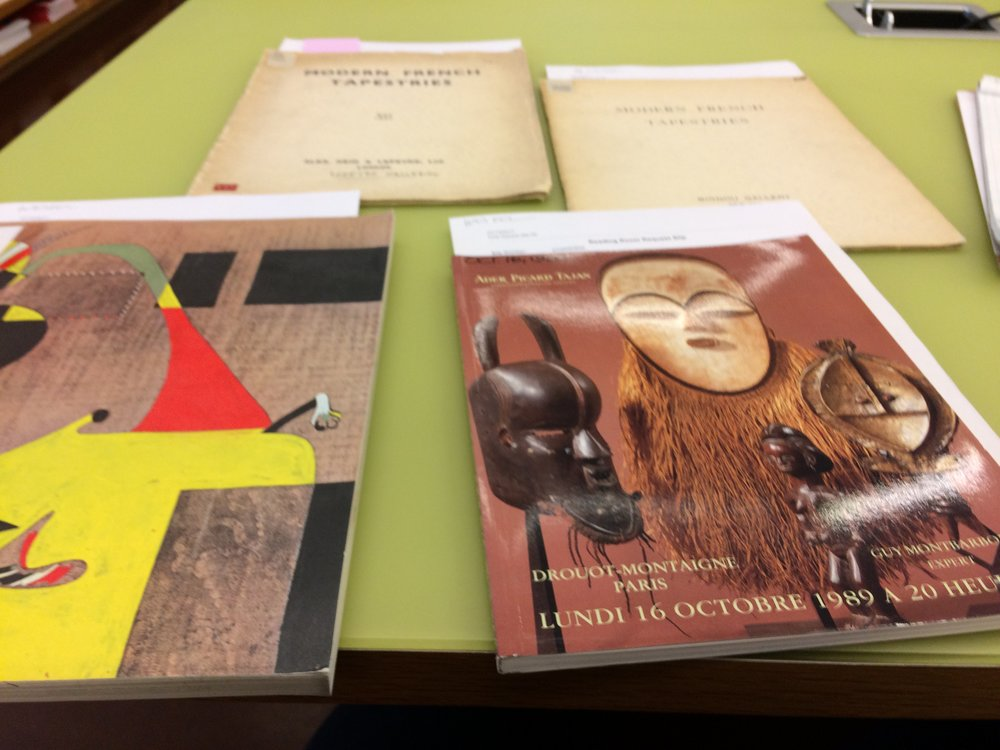Materials I reviewed in the library at the Philadelphia Art Museum.