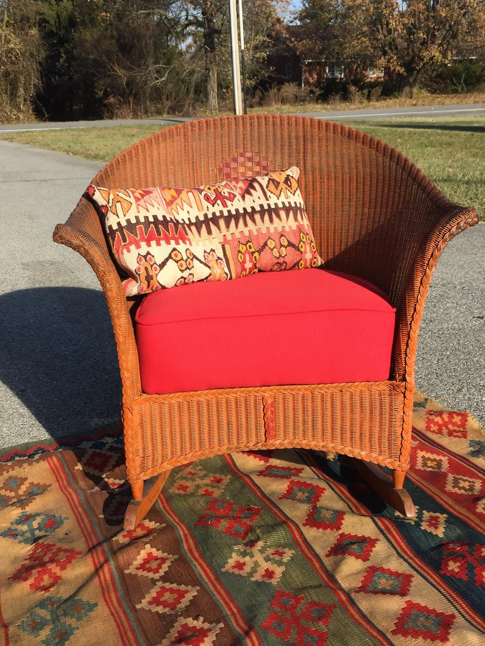 The perfect piece for a covered porch or sun room! Eclectic and Boho lovers will style it up with a Kantha or Kilim!