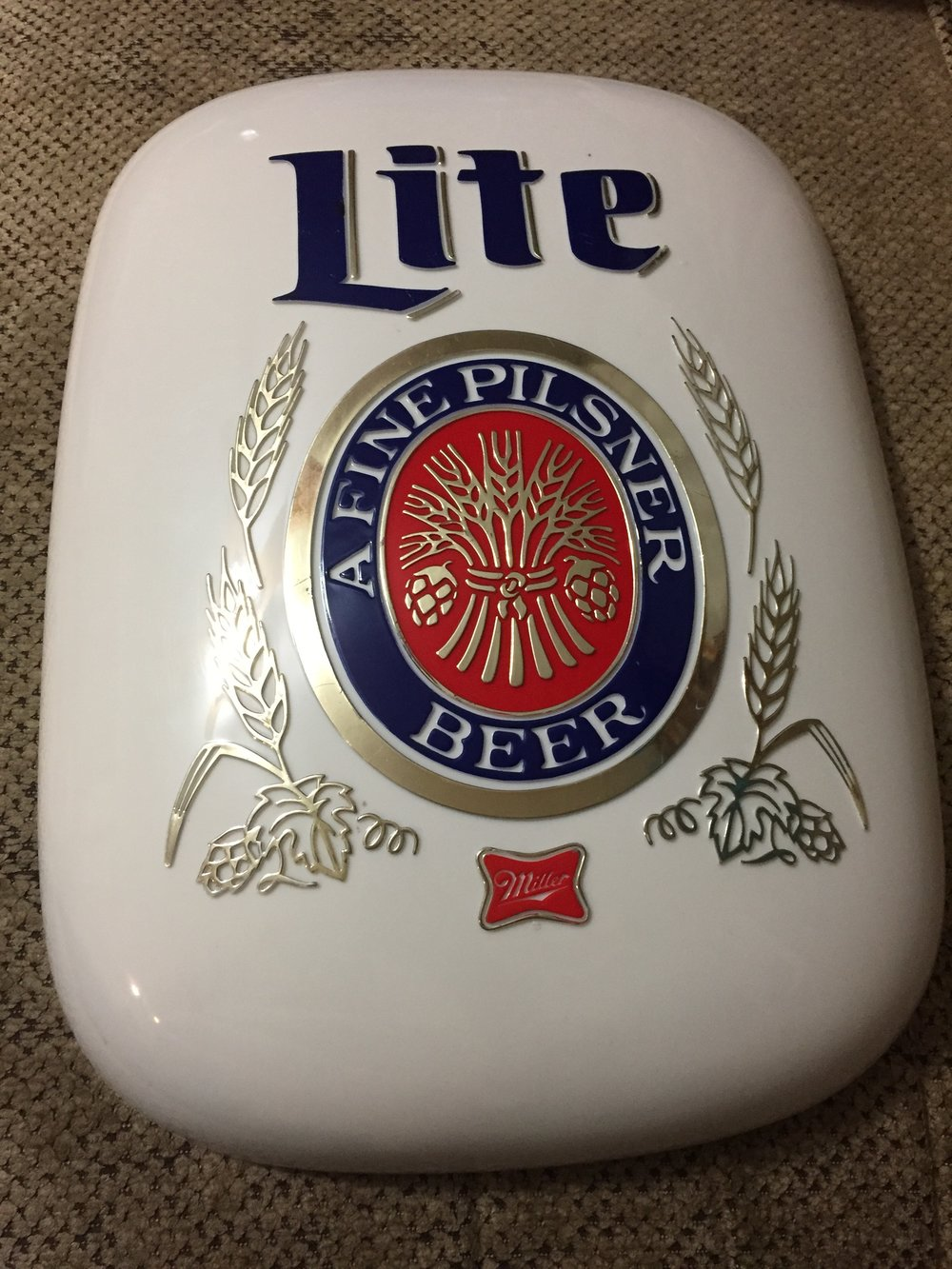 1979 Miller Lite bubble sign. Great for you man cave, bar or rec room!