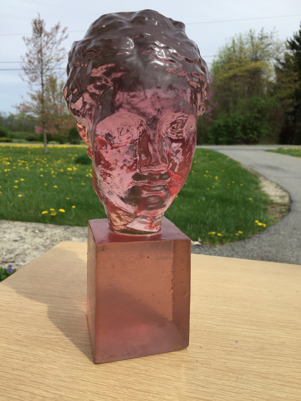"What a great and rare find! Pink Lucite sculpture from Dorothy C Thorpe, as in silver rimmed glassware fame.  This 11"" piece is amazing and freshly plucked from a gorgeous colonial in South Orange, NJ. ****THIS JUST SOLD****"