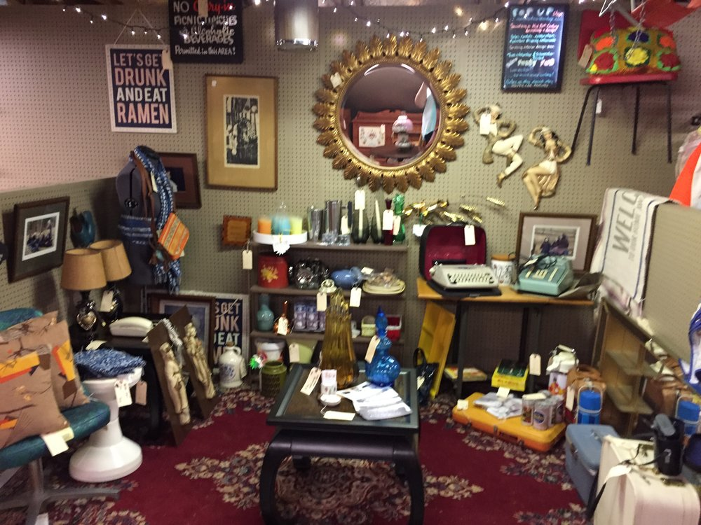 A current view of my offerings at the Fleetwood Antique Mall.  If you are looking for a large mirrored shadow box, I got one in there and it is amazing!  I believe everything at this point is priced UNDER $100, minus the Ming table set.  Come have a look and take some great items home.  I will probably be shaking up my look come next month so this is last call before I do that.  We get lots of college students in August so I will be doing a display with them in mind!
