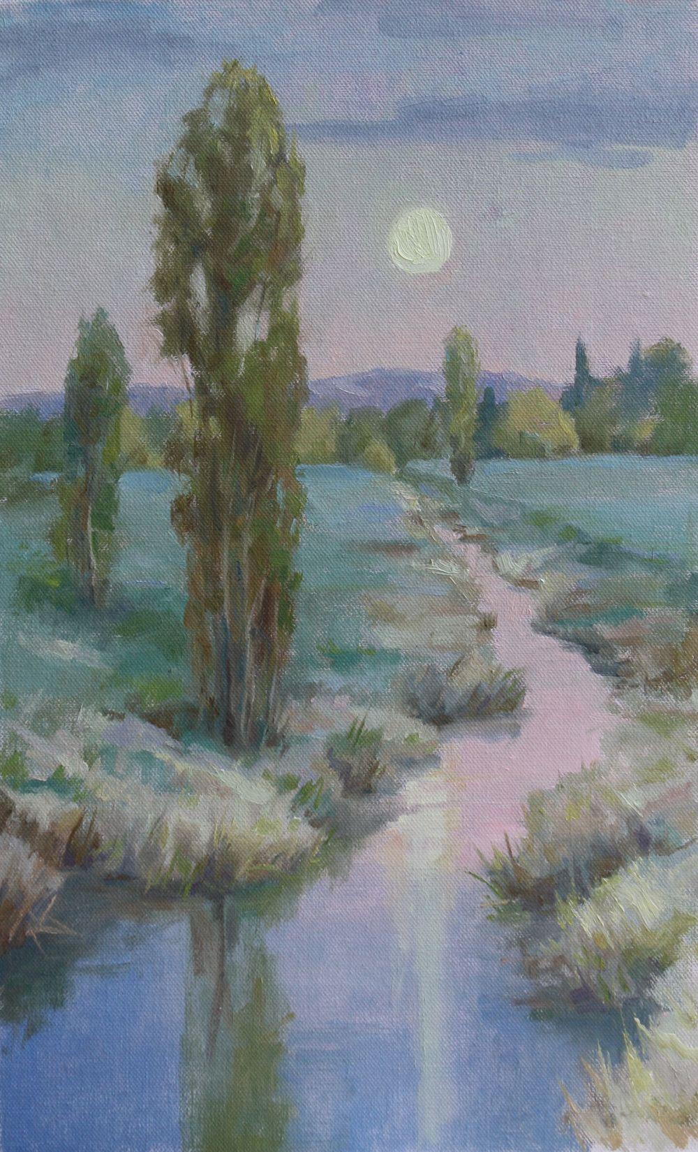 "Hamlin Moonrise 11x17.5"""