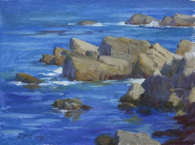 "Lover's Cove Blue 9x12"" $380"