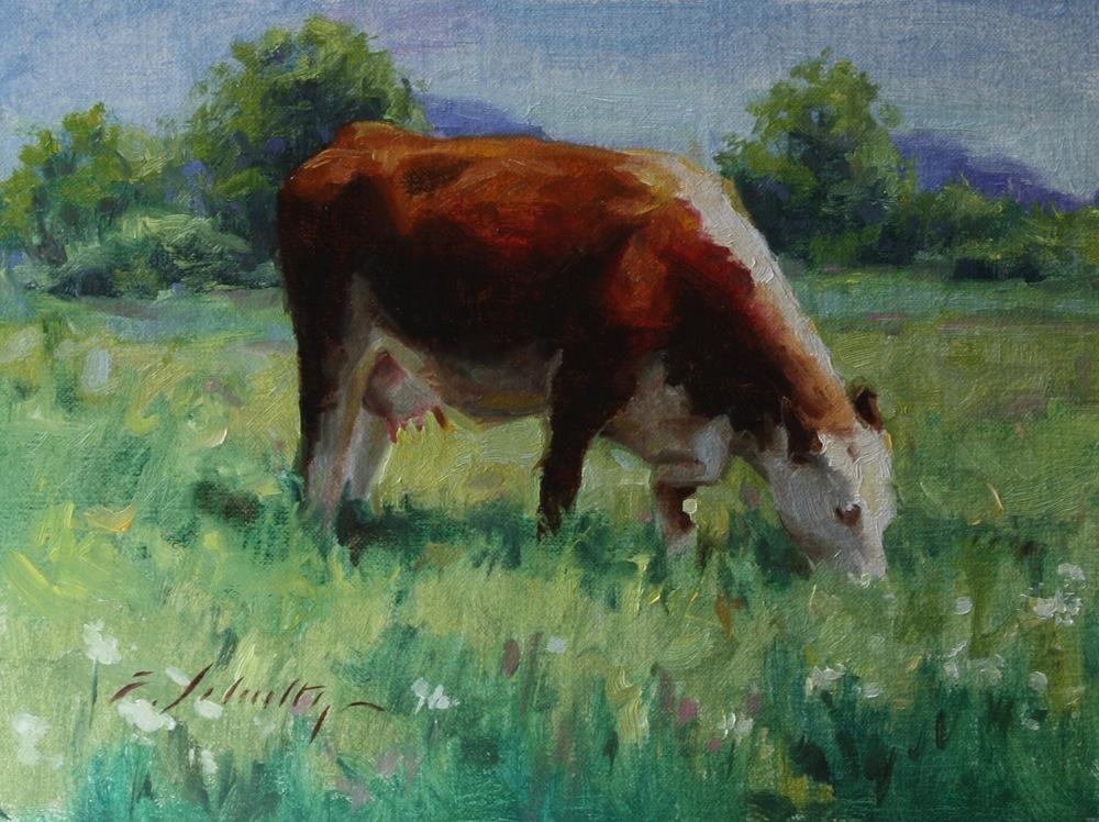 """Summer Cow"" 6x8"""