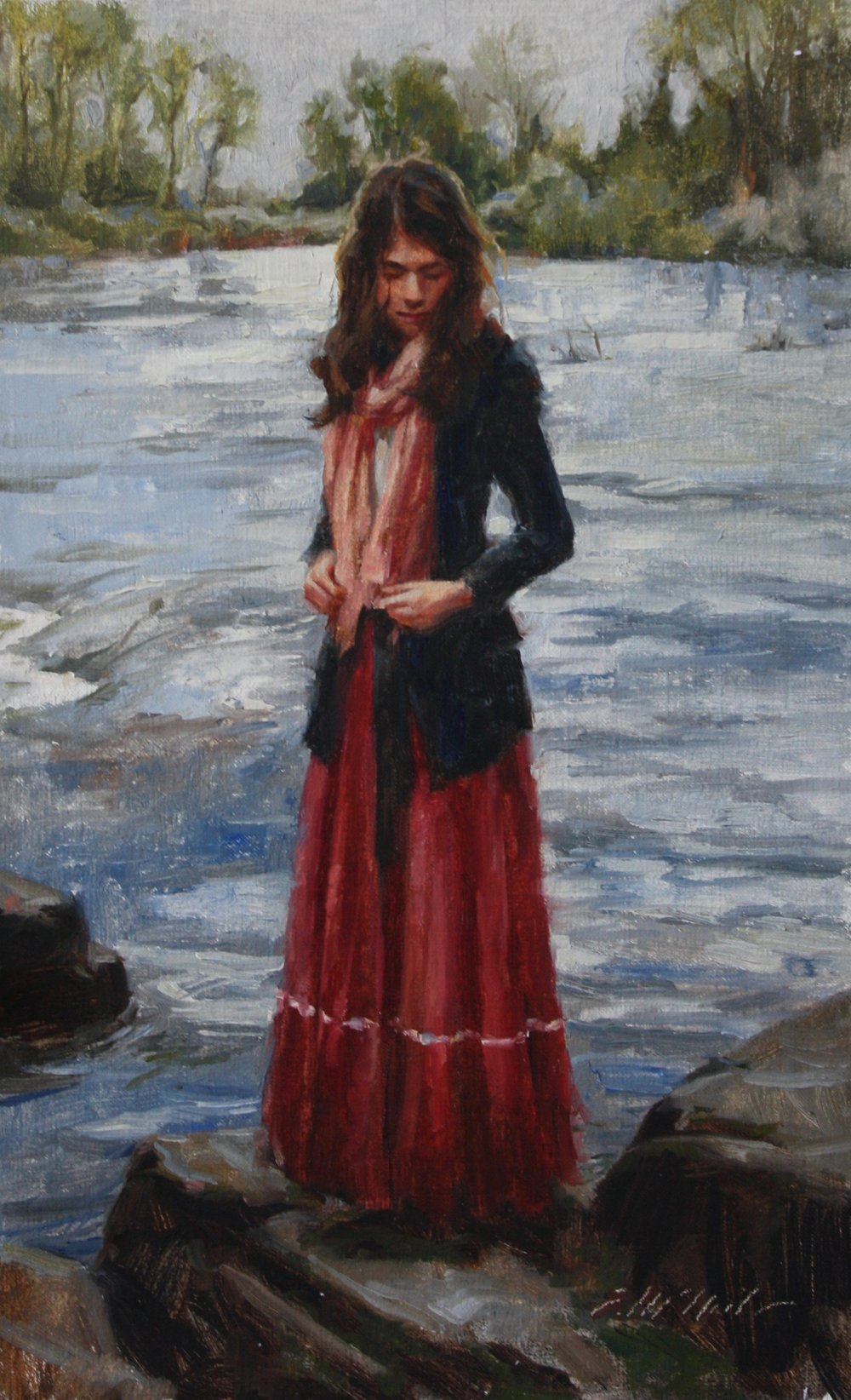 "By the River 12x7.5"" $380"