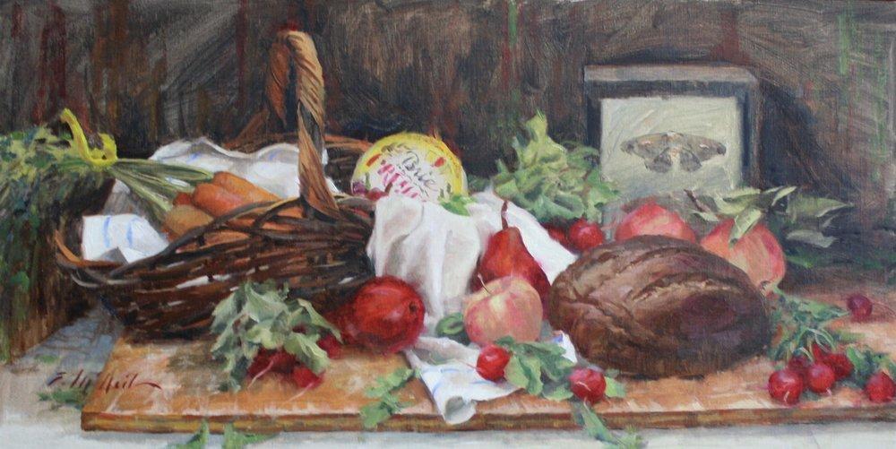 """Autumn Market"" 15x30 $1100"