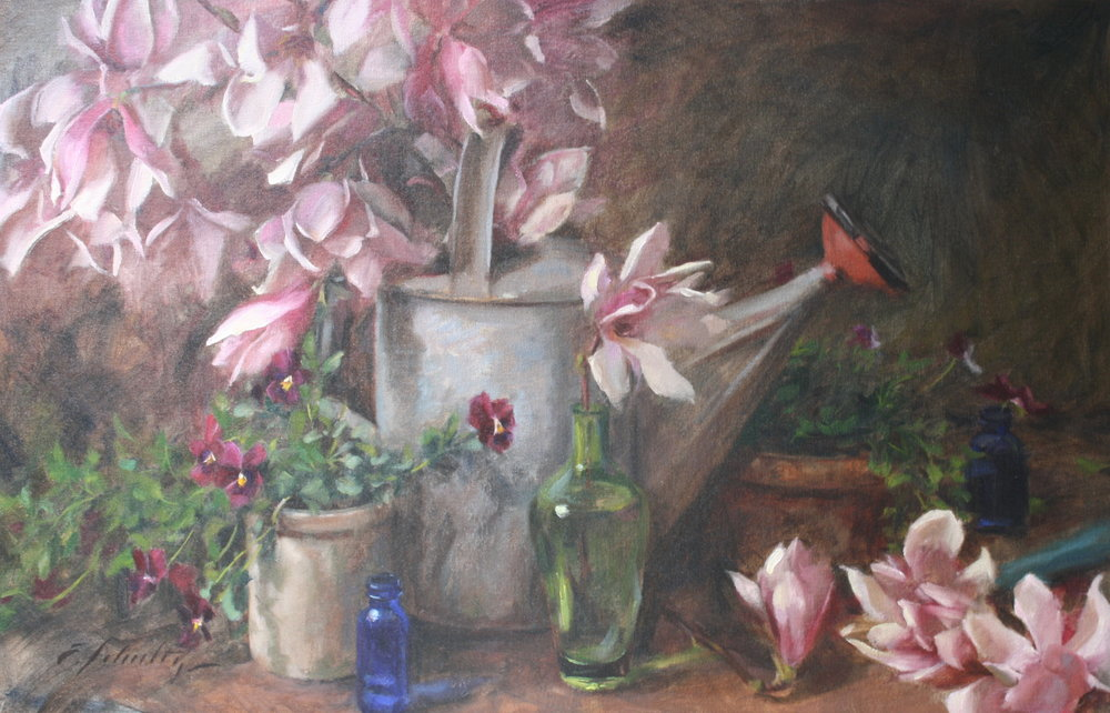 """""""Tulip Magnolia"""" 19.5x30 $1600"""