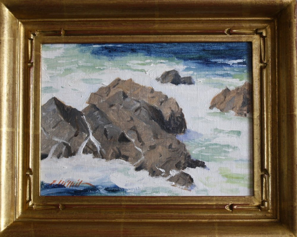 """Big Sur Surf"" 6x8 $350"