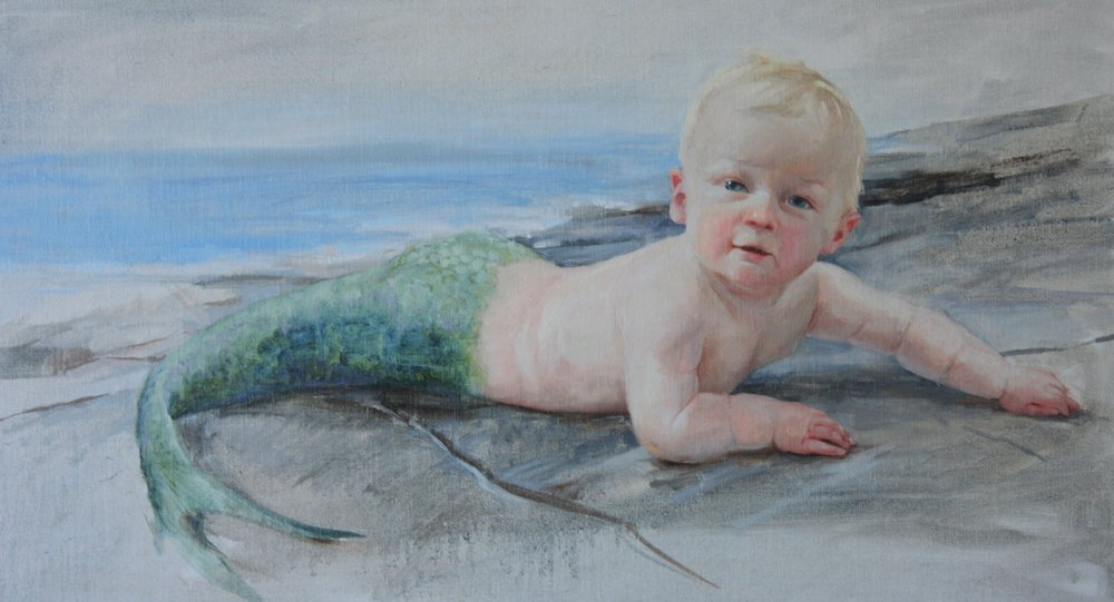"""""""Fresh from the Sea"""" 14x24"""" $950"""