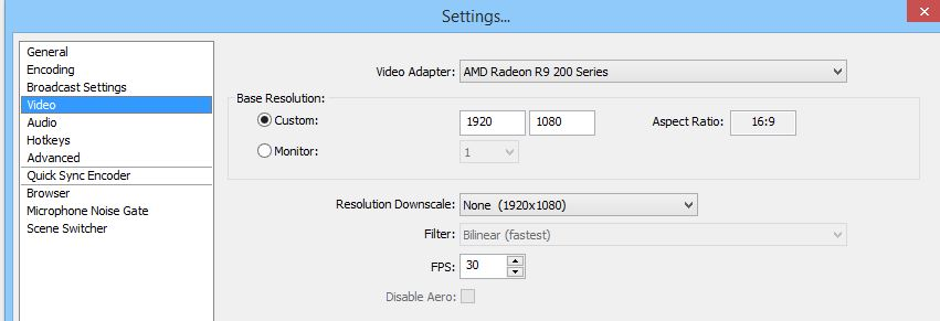 obs recommended settings