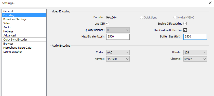 Best OBS Encoding Settings