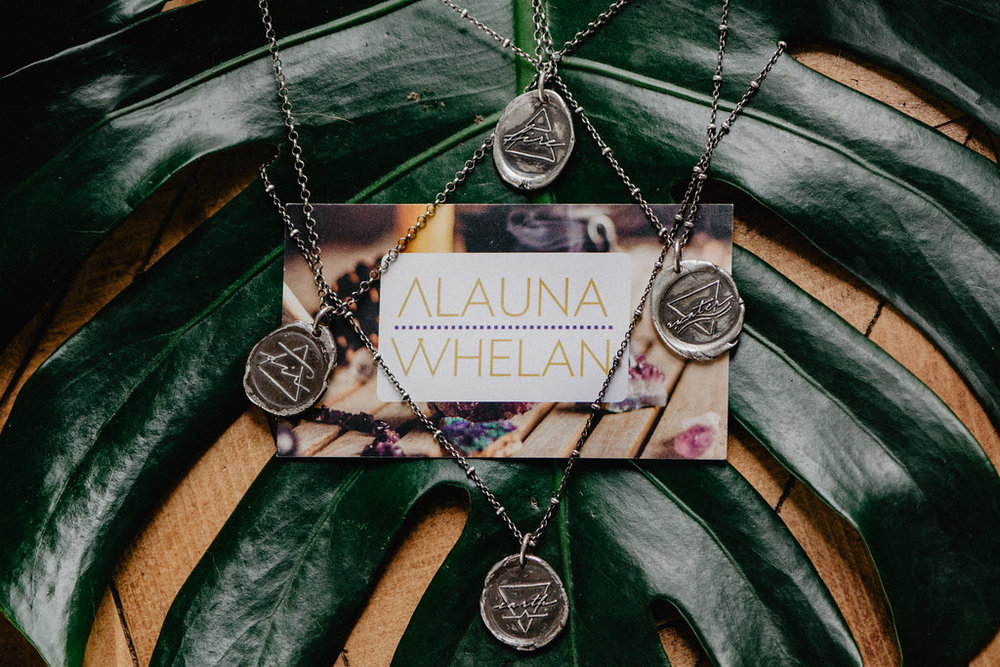 Fine silver element necklace collection