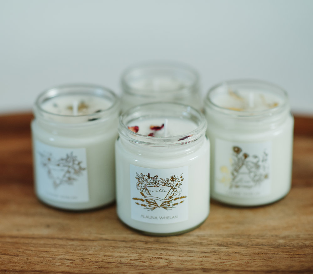 Botanical intention candles