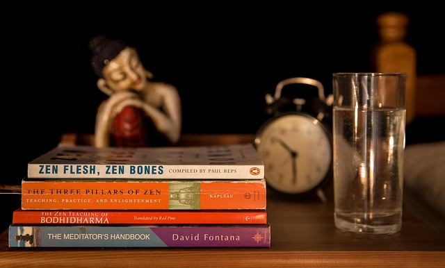 bedside table books