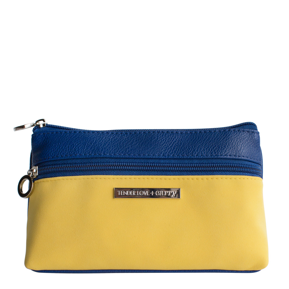 Dynamic Duet Double Zip Navy/Yellow   T-191DN