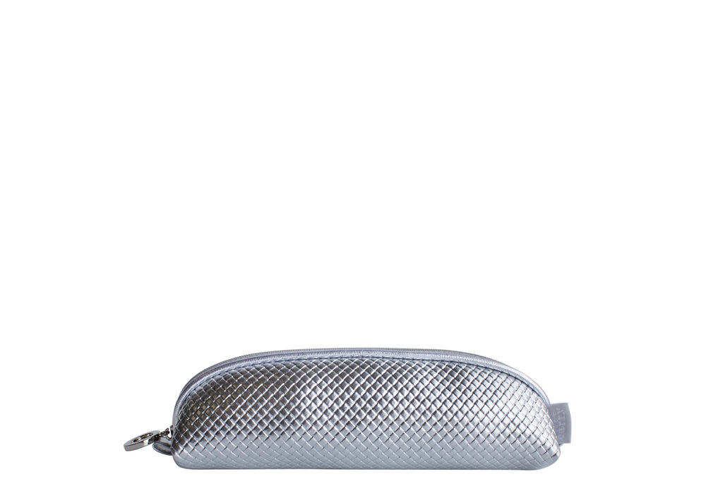 Braid Silver Brush Case    T-108BS