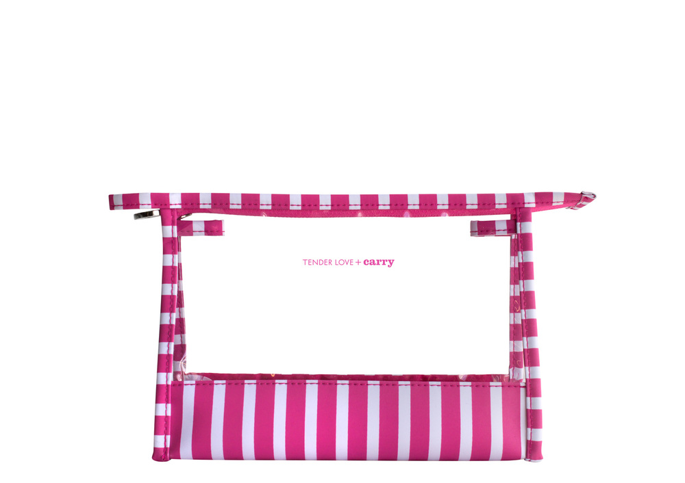 The Stripes Medium Holdall Pink T-217PS