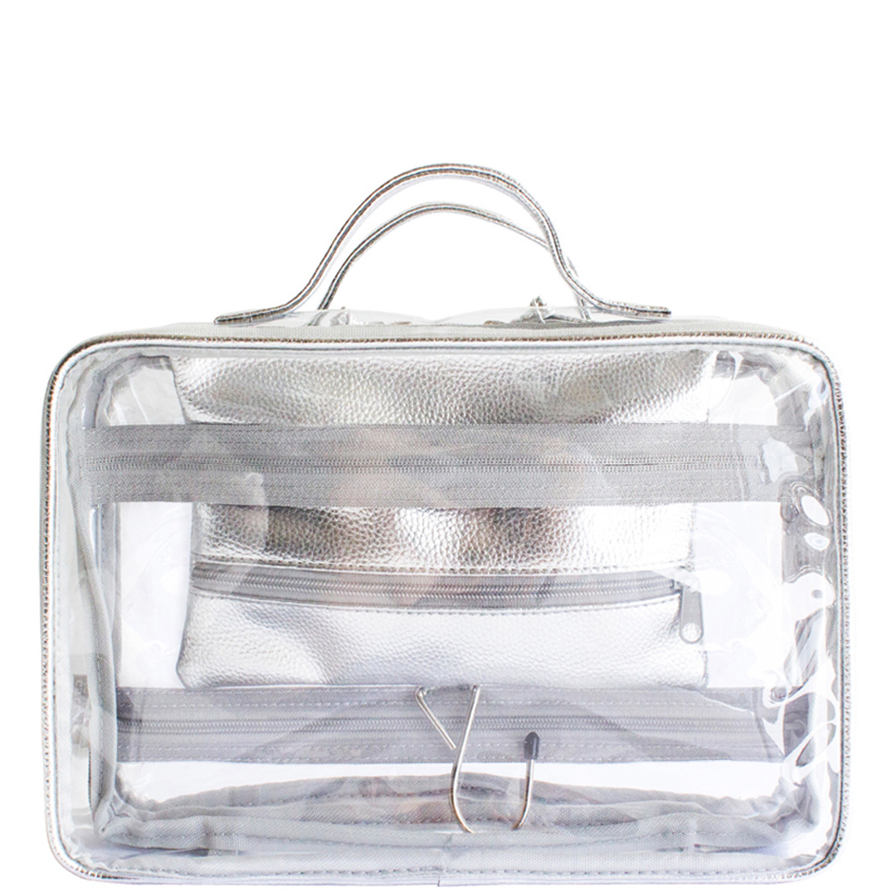 Crystal Hanging Washbag - Silver - Code: T-160CHS