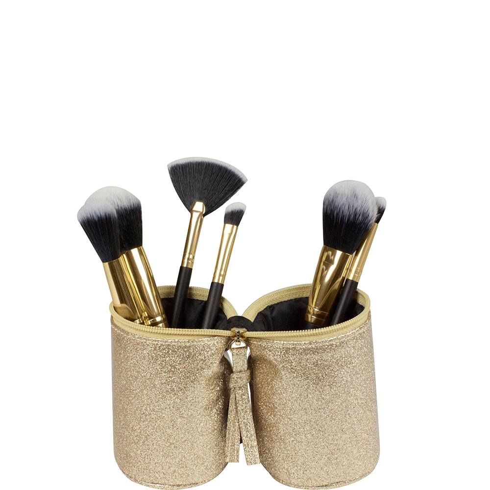 Laminated Glitter Brush Roll - Gold - Code: T-271LGR