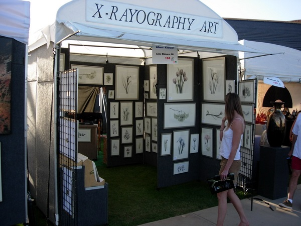 At the art show: The XRayography Booth.