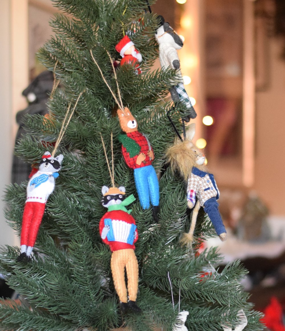 Friendly, fun felt material ornaments - Mr. Lumberjack by Mimi Kirchner from West Elm.