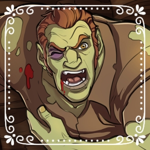Carmichel Imslet - A half-ogre carpenter that was born and raised in the living quarters at Halifax House.  He is the son of a famed but deceased ogre warrior that he never knew (and never cared to seek out and meet). Carmichel is married to Magda.