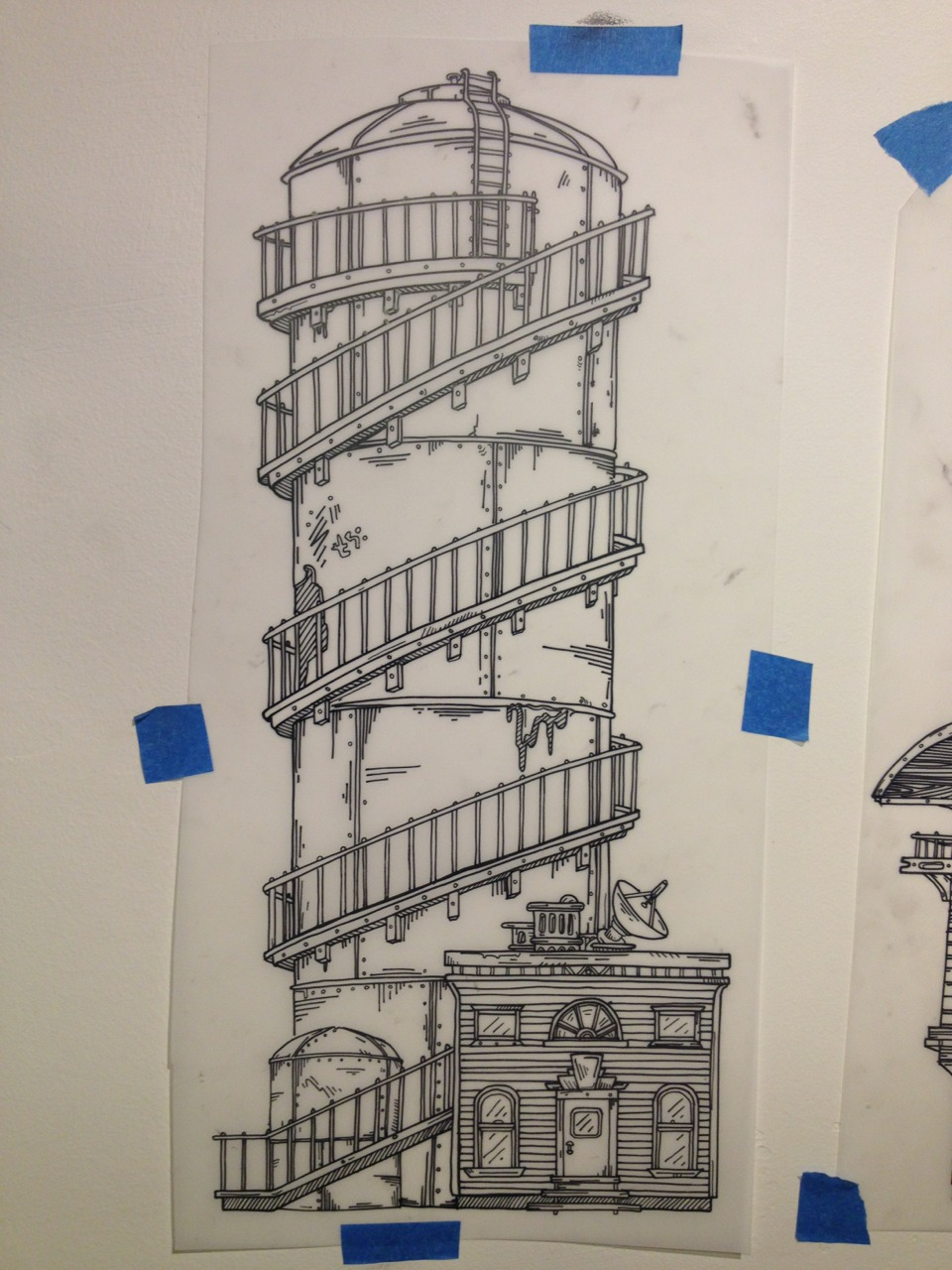 Tower inked