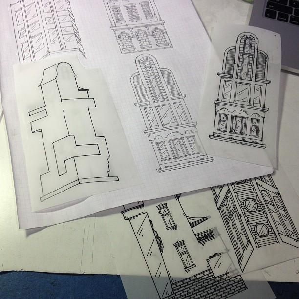 Transparencies, lots of tracing.