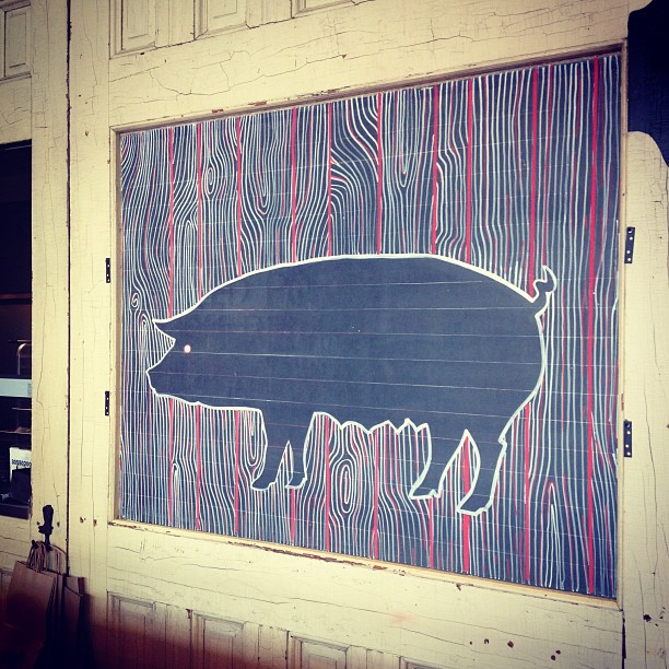 Hey pig #percystreetbarbecue #chalkboards #woodgrain