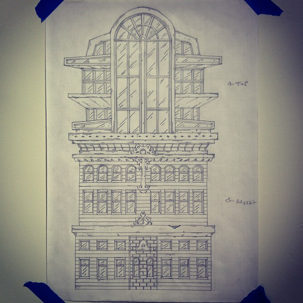 Tower I #drawing #buildings
