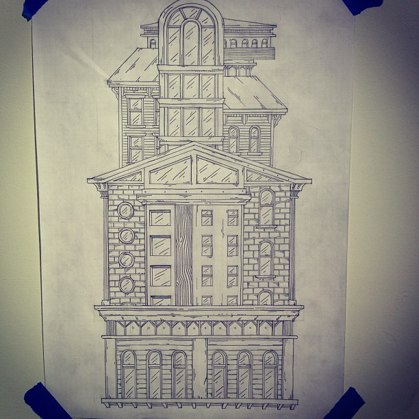 Tower II #drawing #buildings