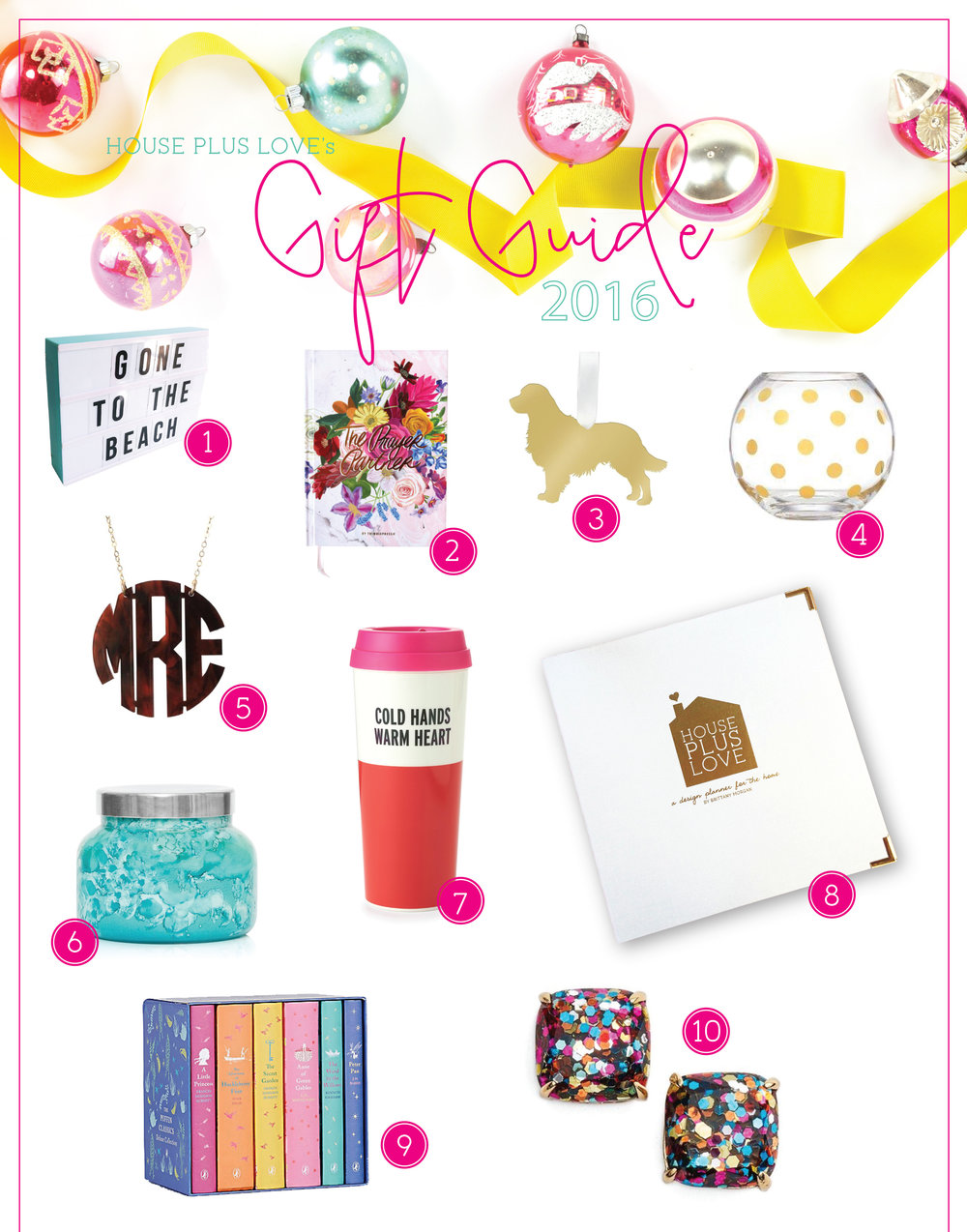 House Plus Love Gift Guide 2016 page 1