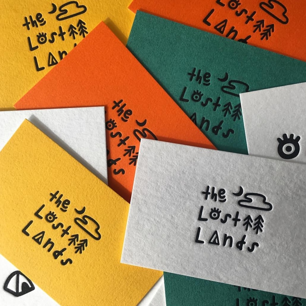 The Lost Lands branding business cards_MarkConlan