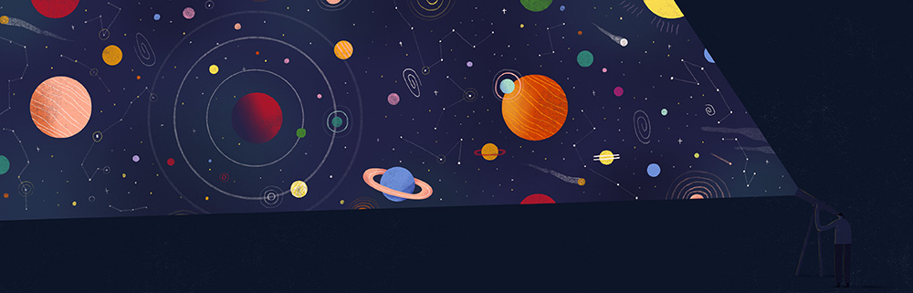 Etsy_World of Etsy_Spot Illustration_Celestial Skies_Mark Conlan