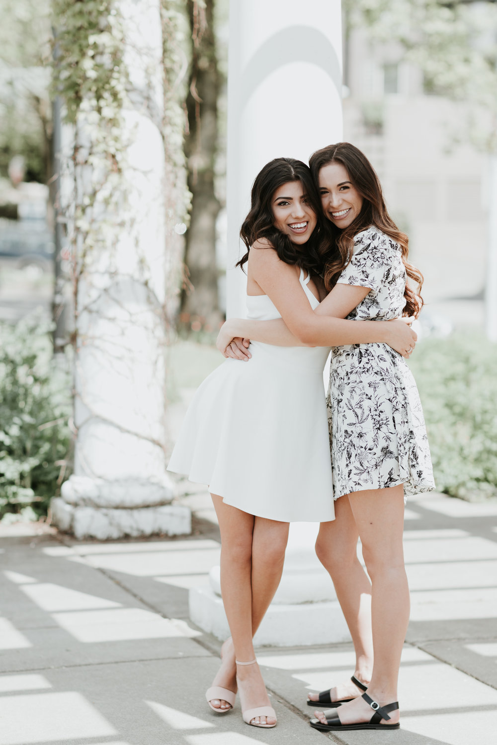 I'm so happy Alyssa was able to join our shoot as well. She was there for moral support & extra laughs. Nicole & Alyssa actually met during their first week at NU and have remained best friends (even roommates) ever since!