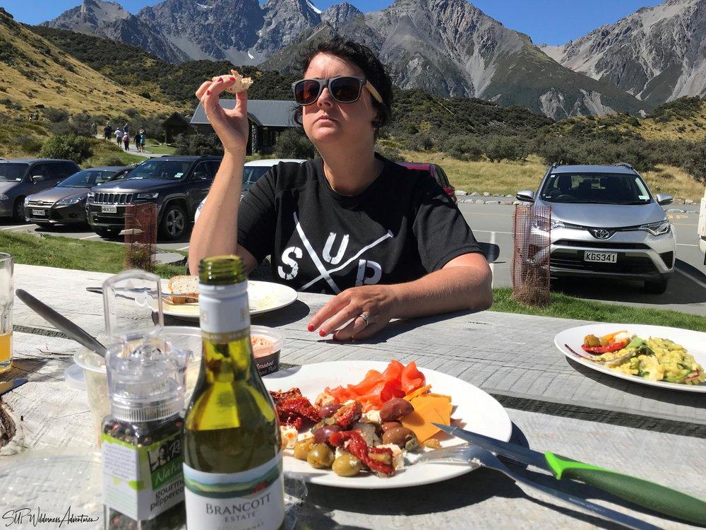 SUP Wilderness Adventures Mt Cook picnic 2018.jpg