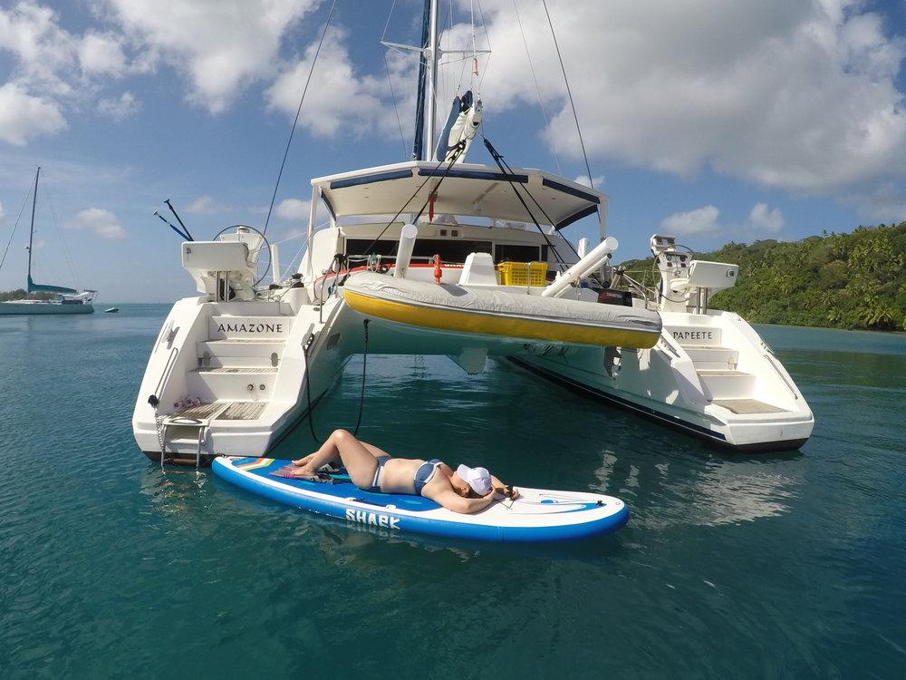 Bora Bora paddleboarding