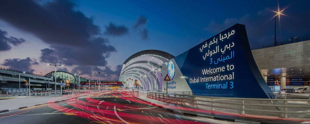 Dubai Airport Taxi Screens -