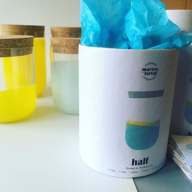 Order ready for shipping to a new retailer in Vienna, and then weekend! #half #jars #readyforshipping #designstore #vienna #wien #handmadeglass #handmadeincopenhagen