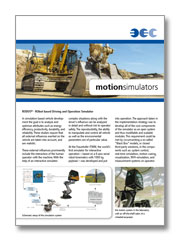 BEC motion simulators - excavators