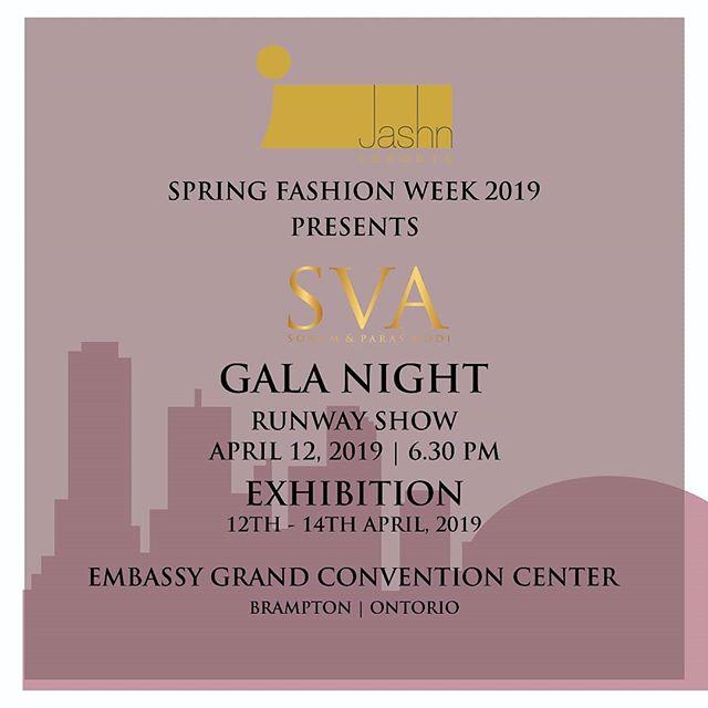 SVA X JASHN (Toronto)  #SVATRAVELS to Toronto for @jashn.ca Runway presentation for Gala night on  12th April. Exhibition- 12th-14th April.  #sva #svacouture #svatravels #jashn #toronto #canada #galanight #exhibition #runway #springfashionweek #spring #Tara #ss19